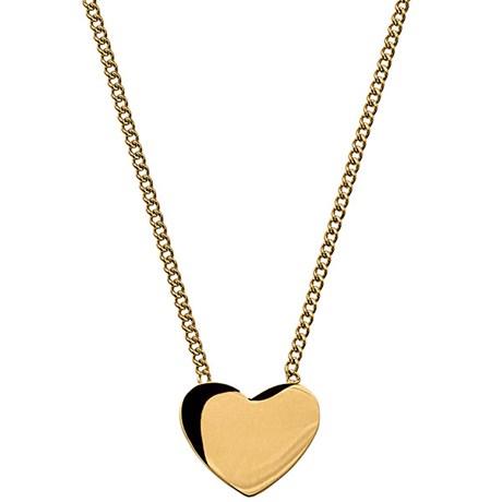 Halsband Pure Heart, hjärta - Edblad, Guld