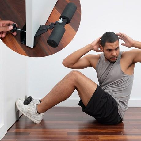 Träningsredskap till mage (dörrmonterad), Svart