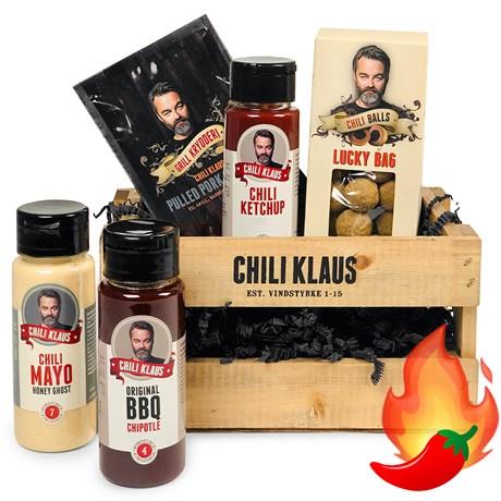 Chili Klaus - Öllåda med chiliprodukter, Multi
