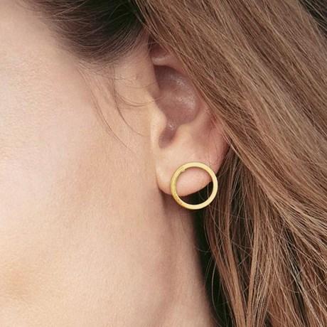 Edblad - Örhängen, Circle Gold, Guld