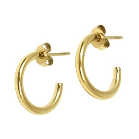 Edblad - Örhängen, Hoops Gold, Guld
