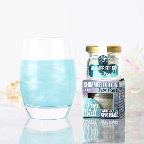 Drinkglitter - Blått glitterpulver med blåbärssmak, Blå