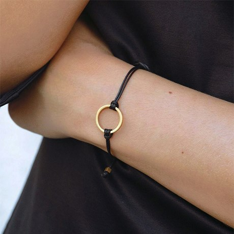 Edblad - Armband, Circle Cord Svart, Svart