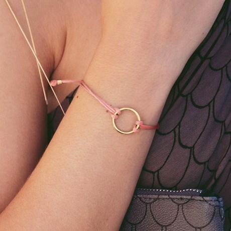 Edblad - Armband, Circle Cord Pink, Rosa