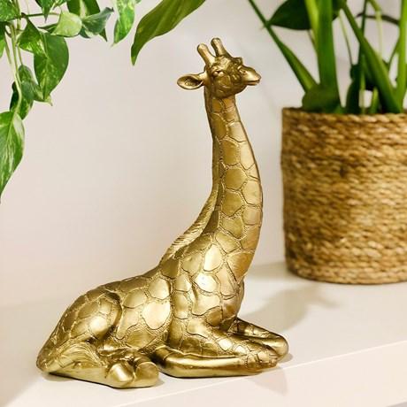 Dekoration - Giraff, Guld