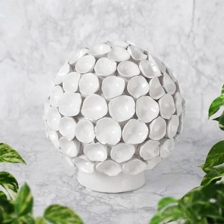 Dekoration - Korall, klot, Vit