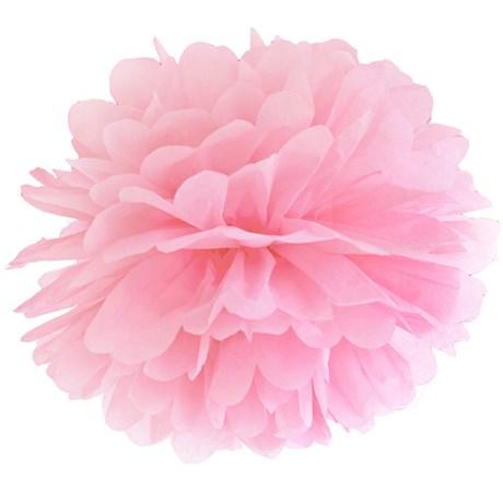 Pom poms - Pastell, Rosa - 35 cm