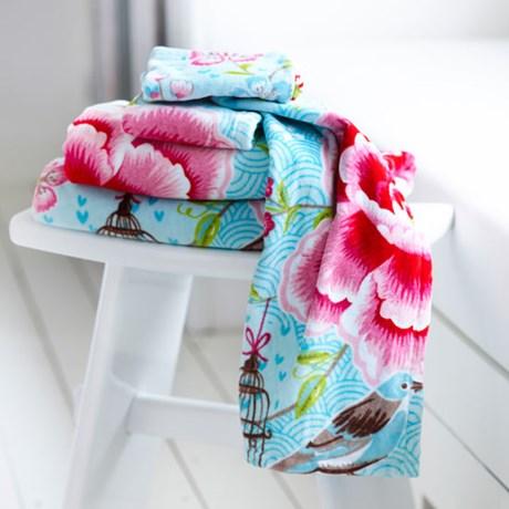 pip studio handdukar birds in paradise turkos. Black Bedroom Furniture Sets. Home Design Ideas