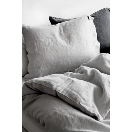 Lovely Linen sänglinne - Ljusgrå, Örngott