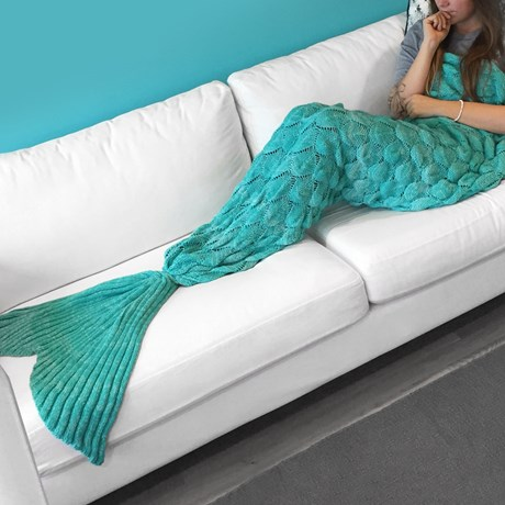 Sjöjungfru-filt - Mermaid Blanket