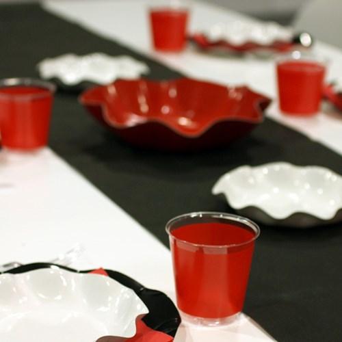Engångsartiklar till fest, röd, Plastglas (10-pack)
