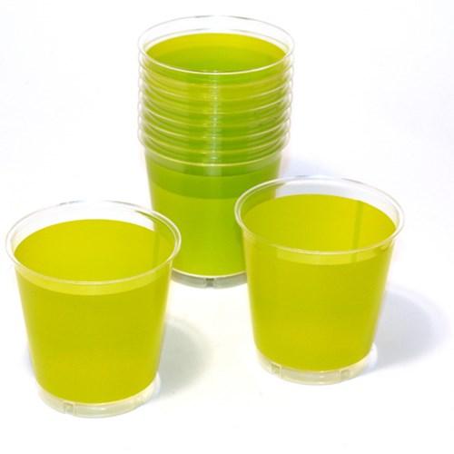 Engångsartiklar till fest, grön, Plastglas (10-pack)