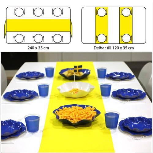 Engångsartiklar till fest, gul, Bordslöpare