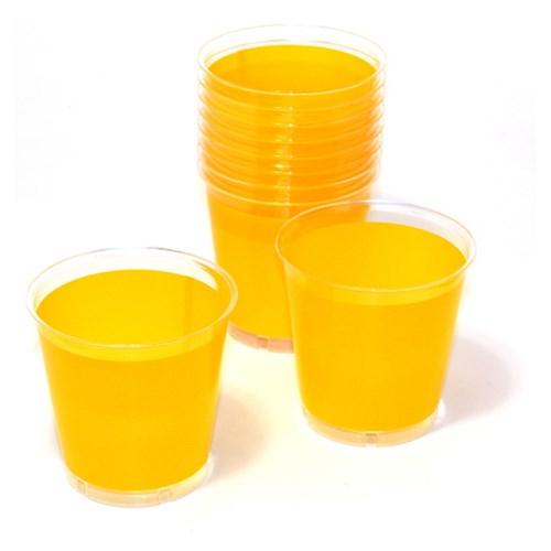 Engångsartiklar till fest, gul, Plastglas (10-pack)