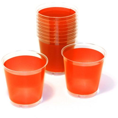 Engångsartiklar till fest, orange, Plastglas (10-pack)