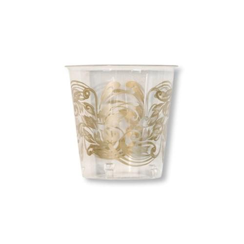 Engångsartiklar till fest - Noblesse, guld, Plastglas (10-pack)