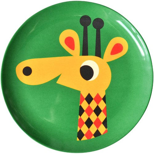 Melamintallrik - Djur, Giraff