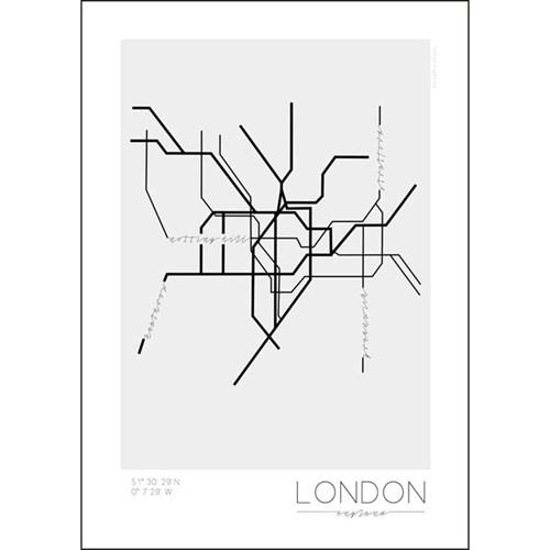 Poster - Tunnelbanor i olika städer, London