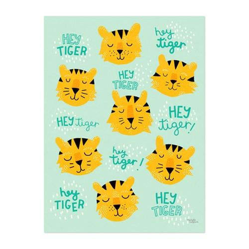 Michelle Carlslund - Poster, Hey Tiger, 30 x 40 cm