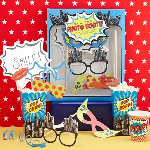 Photobooth kit - Pop Art Superhero Party