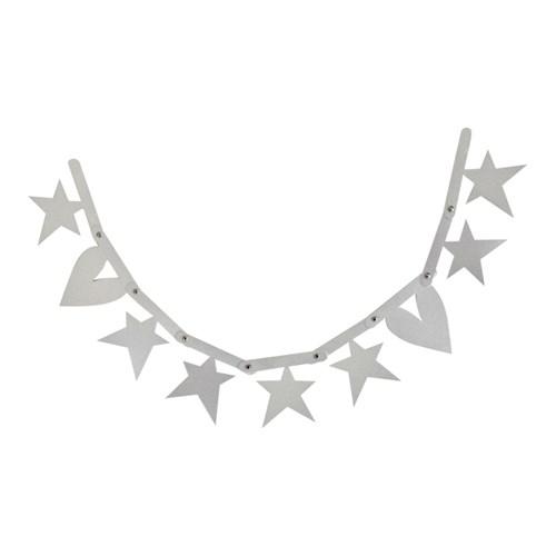 Bokstavsbanner - A little Lovely banner, tillägg, Silver