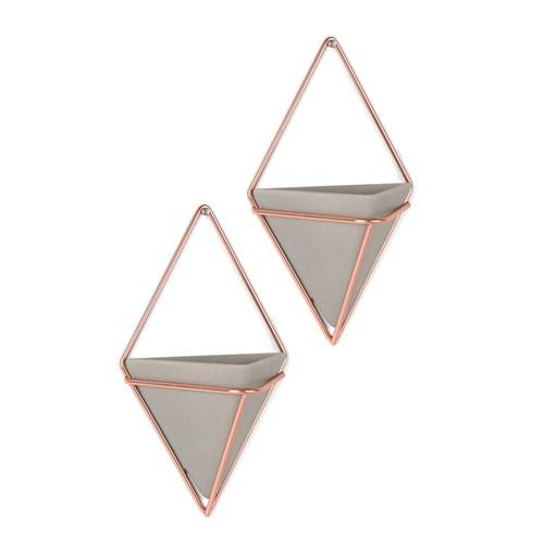 Väggampel - Trigg, grå, Liten (2-pack)