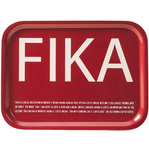 Bricka - FIKA, Röd