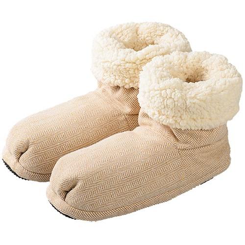 Mikrovågstofflor - Slippies Comfort Boots, Beige