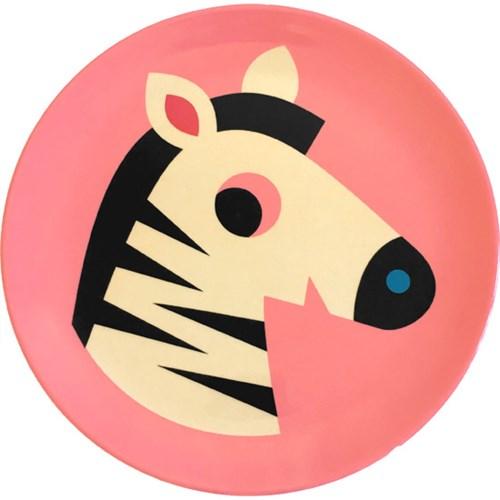 Melamintallrik - Djur, Zebra