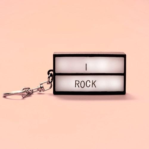 Nyckelring - Mini Lightbox, Svart / Vit