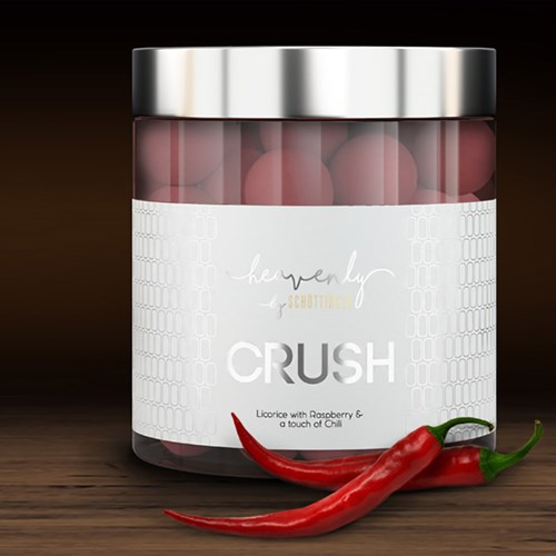 Lakrits med hallon & chili - CRUSH, 150g