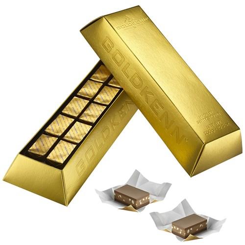 Choklad - Guldtacka, wienernougat, Guld
