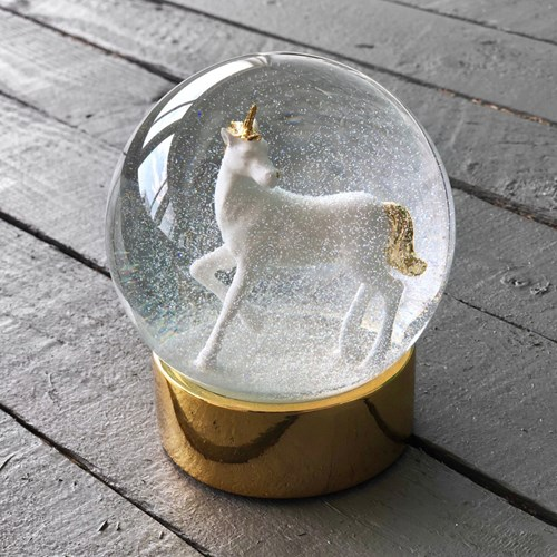 Snöglob - Enhörning, Guld