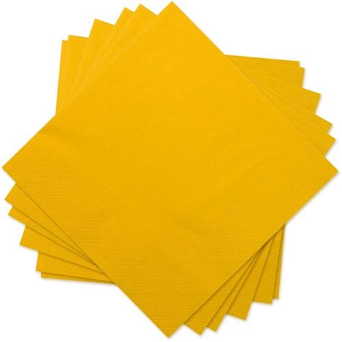 Engångsartiklar till fest, gul, Servetter (20-pack)