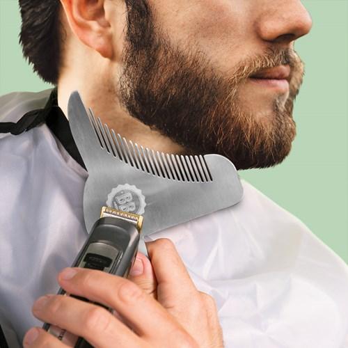 Konturkam för skägg - Beard Buddy, Rostfritt Stål