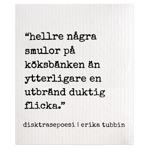 Disktrasa med rolig text - Hellre / Lagom, Hellre