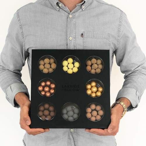Presentask med lakrits - Bülow Selection Box, Svart