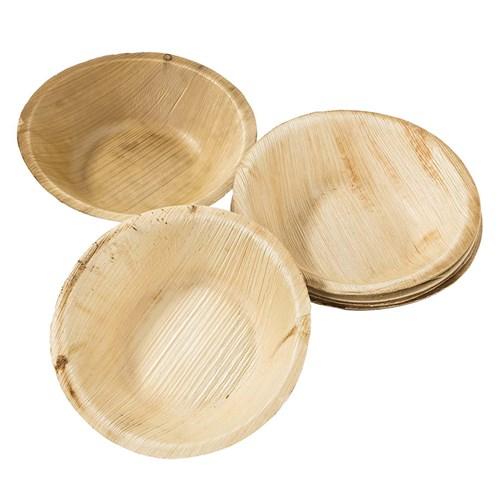 Nedbrytbara tallrikar & skålar - Palmblad, Små skålar (6-pack)