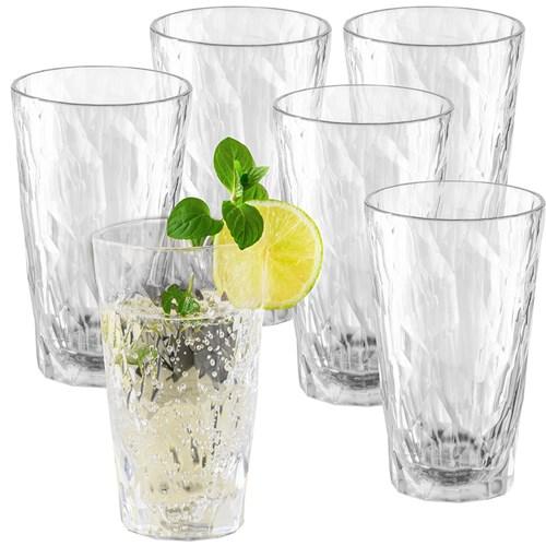 Okrossbart drinkglas i plast - Koziol, 6-pack