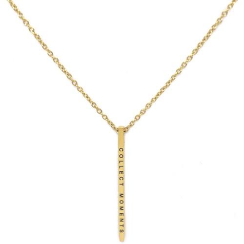 Halsband med budskap - Collect Moments, Guld