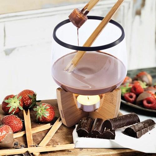 Chokladfondue set, Glas