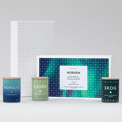 Doftljus NORDEN (3-pack) - Skandinavisk , 3-pack