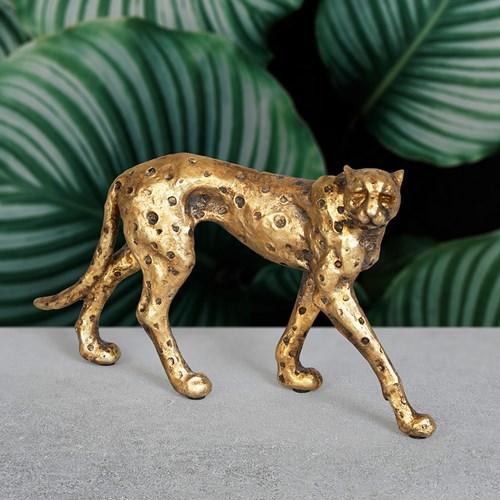 Dekoration - Leopard, liten, Guld