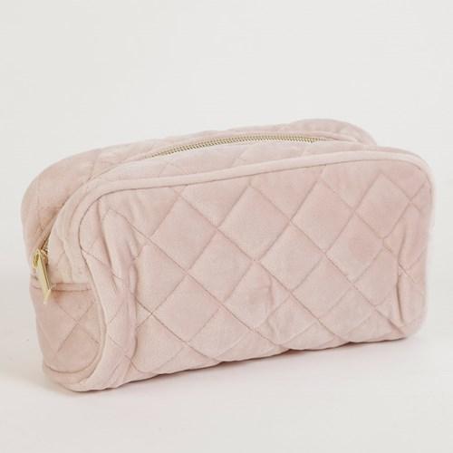 Necessär i sammet - Dusty Pink, Liten