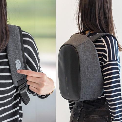 Anti-stöld ryggsäck med överfallslarm, Svart