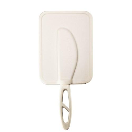 BreLock - Lock med smörkniv, vit, Liten (300 g)