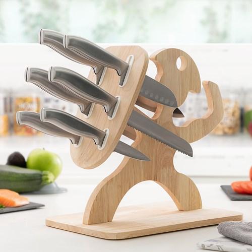 Spartan knivset - Knivblock och knivar, Trä