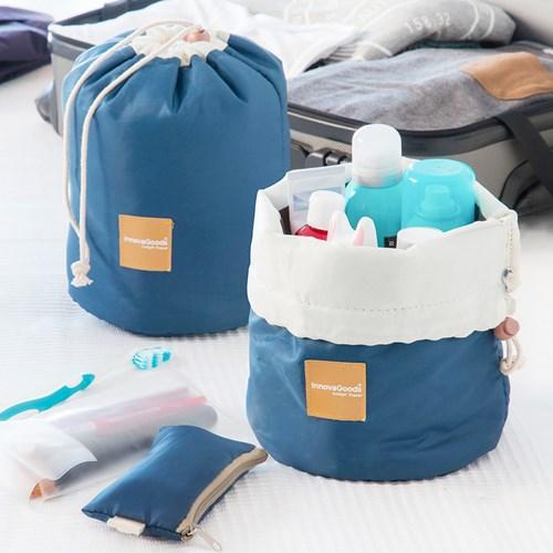 Resenecessär, sminkväska och fodral (3-pack), Blå