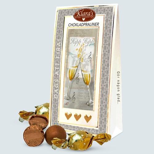 Chokladpraliner - Dags att fira (120 g), Silver