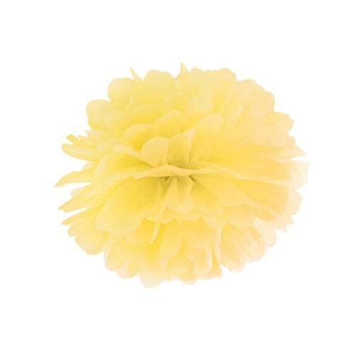 Pom poms - Pastell, Gul - 25 cm